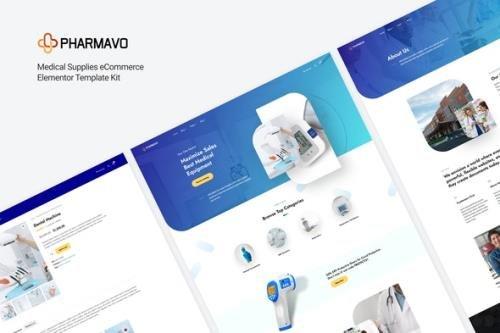 ThemeForest - Pharmavo v1.0.0 - Medical Supplies eCommerce Elementor Template Kit - 30484066
