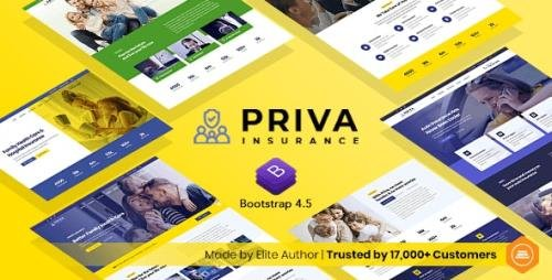 ThemeForest - Priva v1.0 - Insurance Company Website Template + RTL Support - 30407269