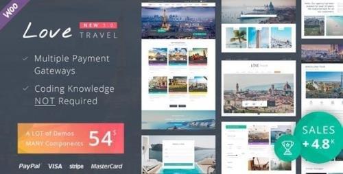 ThemeForest - Love Travel v4.0 - WordPress Theme - 7704831