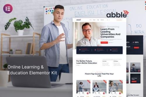 ThemeForest - Abble v1.0.0 - Online Learning & Education Elementor Kit - 30465506