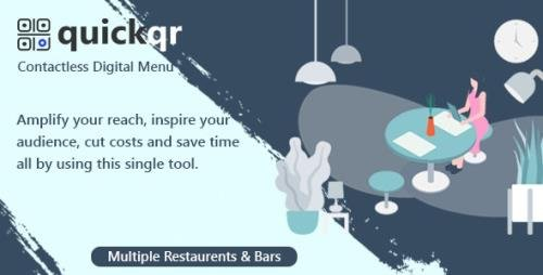 CodeCanyon - QuickQR v5.7 - Saas - Contactless Restaurant QR Menu Maker - 29012439 -