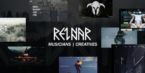 ThemeForest - Reinar v1.2.7 - A Nordic Inspired Music and Creative WordPress Theme - 23147901
