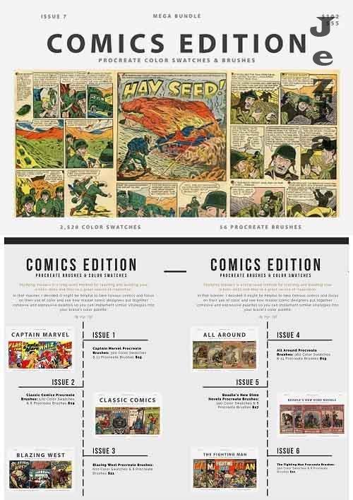 CreativeMarket - Comic Bundle Procreate Brushes 5755346