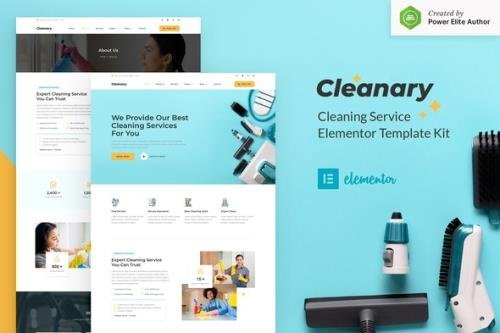 ThemeForest - Cleanary v1.0.0 - Cleaning Service Company Elementor Template Kit - 30596122