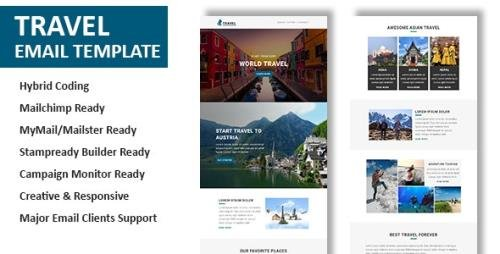 ThemeForest - Travel v1.0 - Multipurpose Responsive Email Template with Online StampReady & Mailchimp Builders - 21128908