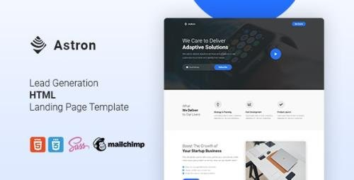 ThemeForest - Astron v1.0 - Lead Generation HTML Landing Page Template - 28430821