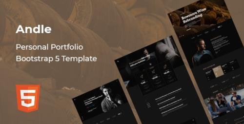 ThemeForest - Andle v1.0 - Personal Portfolio Bootstrap 5 Template - 30252848