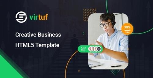 ThemeForest - Virtuf v1.0 - Creative Agency Bootstrap 5 Template - 30459467