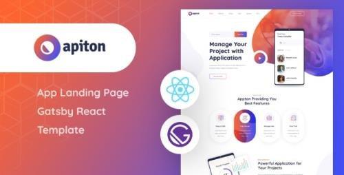 ThemeForest - Apiton v1.0 - Gatsby React App Landing Page Template - 29439022