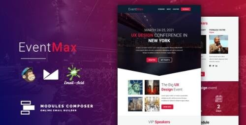 ThemeForest - EventMax v1.0 - Responsive Email for Events & Conferences with Online Builder - 30466693