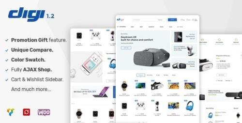 ThemeForest - Digi v1.6.0 - Electronics Store WooCommerce Theme - 20289750