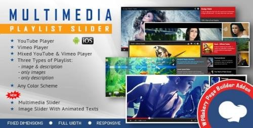 CodeCanyon - Visual Composer Addon - Multimedia Playlist Slider for WPBakery Page Builder v1.9.1 - 13542522