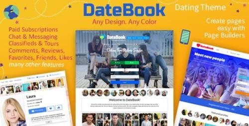ThemeForest - DateBook v4.5.2 - Dating WordPress Theme - 17464068