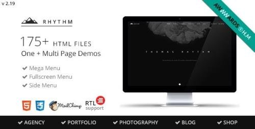 ThemeForest - Rhythm v2.20.1 - Multipurpose One/Multi Page Template - 10140354