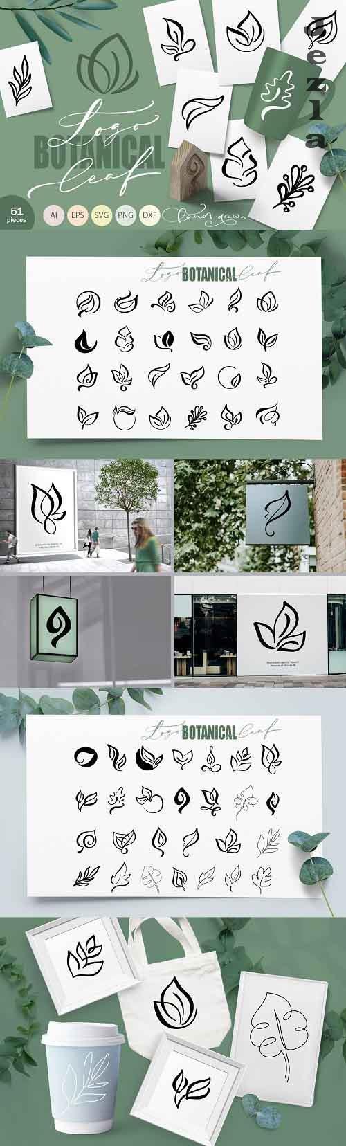 Logo Botanical Leaf SVG - 5906752