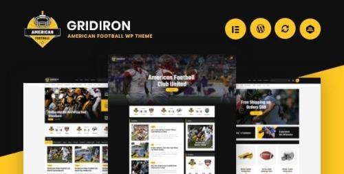 ThemeForest - Gridiron v1.0.3 - American Football & NFL Superbowl Team WordPress Theme - 24840047