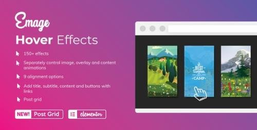 CodeCanyon - Emage v4.3.1 - Image Hover Effects for Elementor - 22563091 -
