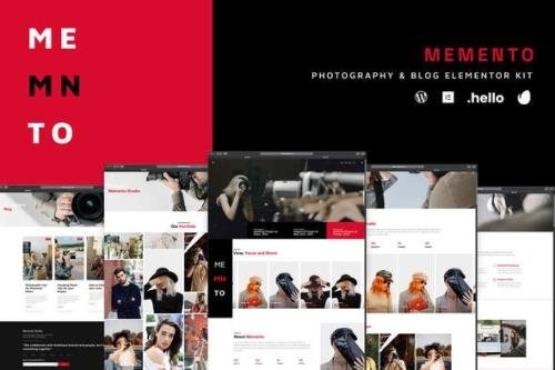 ThemeForest - Memento v1.0.0 - Photography & Blog Elementor Template Kit - 30525349