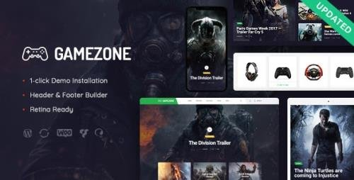 ThemeForest - Gamezone v1.1.1 - Video Gaming Blog & Esports Store WordPress Theme - 21617775