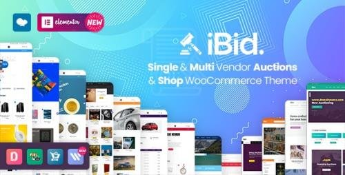 ThemeForest - iBid v2.8 - Multi Vendor Auctions WooCommerce Theme - 24923136