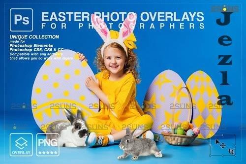 Photoshop overlay Easter bunny overlay V8 - 1223563