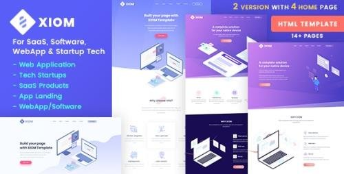 ThemeForest - XIOM v1.0 - SaaS, Software, WebApp and Startup Tech HTML Template - 22454166