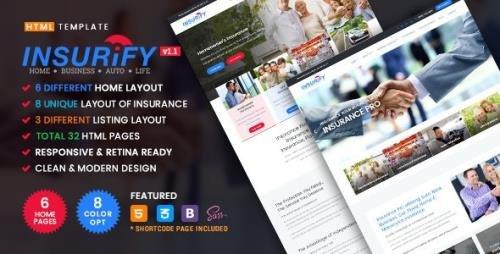 ThemeForest - Insurify v1.1 - Ultimate Template for Insurance Agency - 20832716