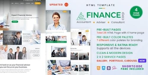 ThemeForest - Finance Corp v1.1.1 - A Financial Services & Business Consulting Template - 20618558