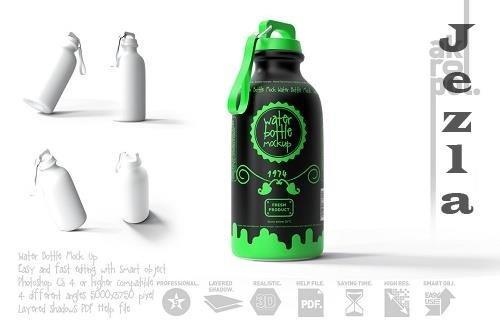 CreativeMarket - Reusable Water Bottle MockUp 5750685