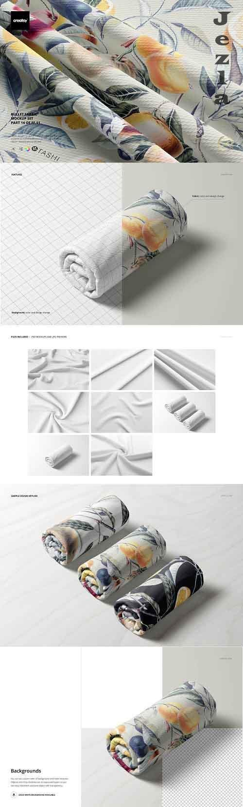 CreativeMarket - Bullet Fabric Mockup Set (14/FFv.11) 5749752