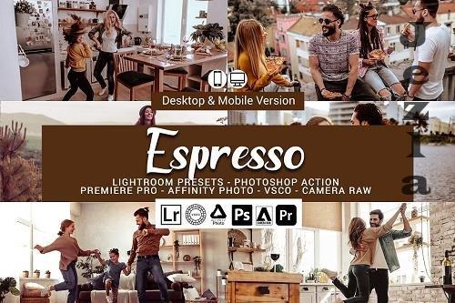 CreativeMarket - Espresso Presets, Photoshop actions 5689572
