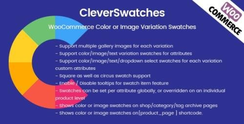 CodeCanyon - CleverSwatches v2.2.3 - WooCommerce Color or Image Variation Swatches - 20594889