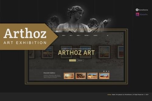 ThemeForest - Arthoz v1.0.2 - Art Exhibition Elementor Template kit - 30464938
