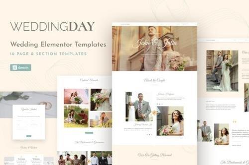 ThemeForest - WeddingKit v1.0.0 - Invite & Gallery Event Elementor Template Kit - 30457901
