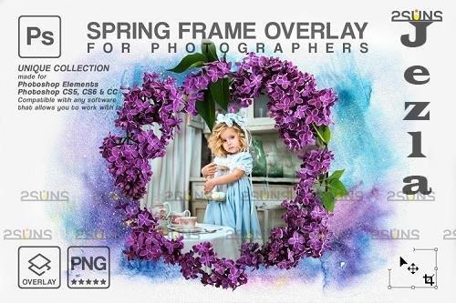 Spring flower digital frames overlay Easter V1 - 1224254