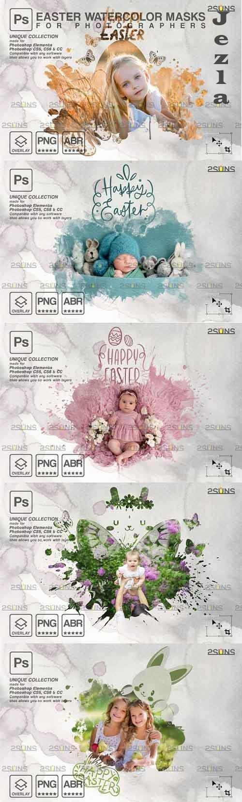 Easter Watercolor overlay & PHSP overlay V2 - 1224217