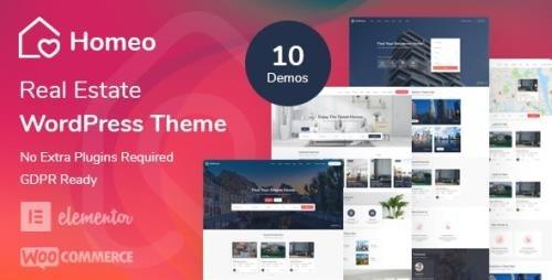 ThemeForest - Homeo v1.2.4 - Real Estate WordPress Theme - 26372986