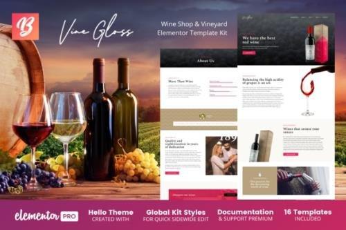 ThemeForest - Vine Gloss v1.0.1 - Wine Shop & Vineyard Elementor Template Kit - 27712477
