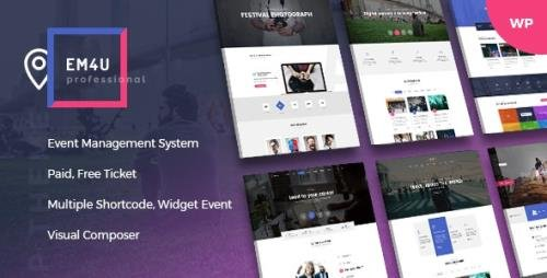 ThemeForest - Events WordPress Theme for Booking Tickets - EM4U v1.4.2 - 20846579