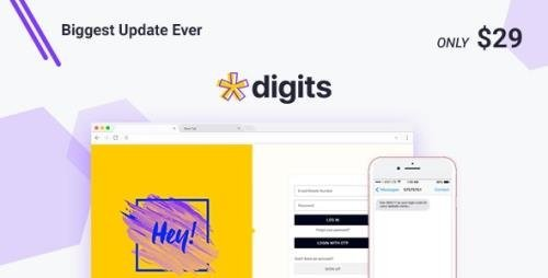 CodeCanyon - Digits v7.5.0.8 - WordPress Mobile Number Signup and Login - 19801105 - NULLED + Digits Add-Ons