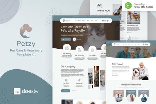 ThemeForest - Petzy v1.0.0 - Pet Care & Veterinary Elementor Template Kit - 30743889