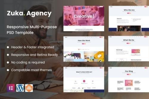 ThemeForest - Zuka-Agency v1.0.0 - Creative Portfolio & Agency Template Kit - 30375066