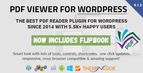 CodeCanyon - PDF viewer for WordPress v9.1.2 - 8182815