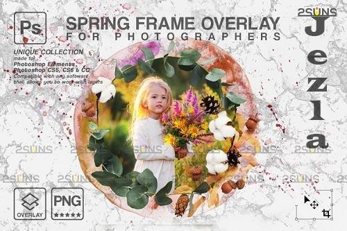 Spring flower digital frames overlay Easter - 1224270