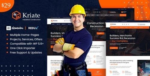 ThemeForest - Kriate v1.2.2 - Industrial Construction Multipurpose WordPress Theme (Update: 22 February 21) - 29655817