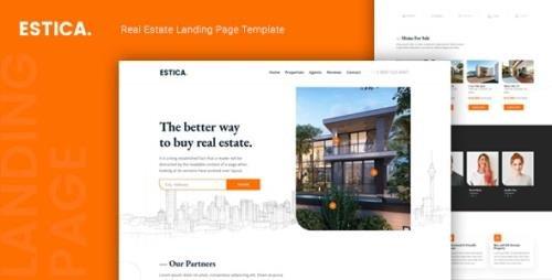 ThemeForest - Estica v1.0 - Real Estate Landing Page Template - 24895203