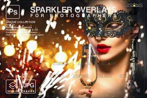 Sparkler overlay & Christmas overlay, PHSP overlay V5 - 1133010