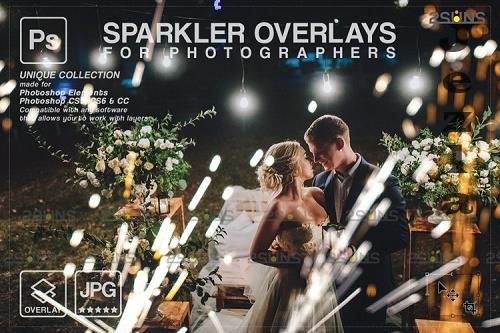 Wedding sparkler overlays, Sparkler overlay, Christmas overlay V9 - 1133242