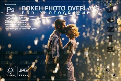 Christmas string light overlay, Fairy bokeh overlay V2 - 1133477