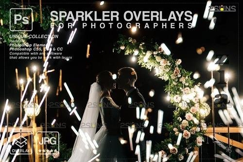 Wedding sparkler overlays, Sparkler overlay, Christmas overlay V10 - 1133243